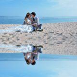 バリ島挙式 ウェディングフォト ビーチ撮影